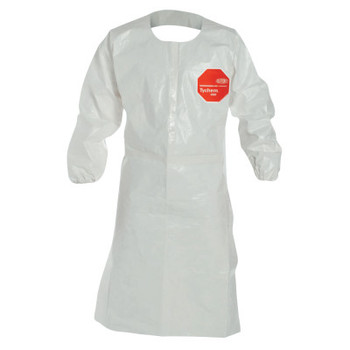 DuPont Tychem SL Aprons with attached Long Sleeves, Large (25 CA/PA)
