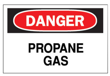 Brady Chemical & Hazardous Material Signs, Danger, Propane, White/Red/Black (1 EA/DRM)