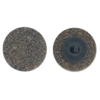 Merit Abrasives Deburring and Finishing Button Mount Wheels Type lll, 3 x 1/4, Fine, 4-6 Density (1 EA/PK)