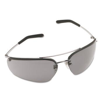 3M Metaliks Safety Eyewear, Gray Lens, Anti-Fog, Hard Coat, Silver Frame, Metal (20 EA/EA)