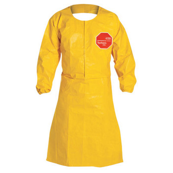 DuPont Tychem QC Apron with Long Sleeves, 29 in X 46 1/2 in (25 CA/PR)
