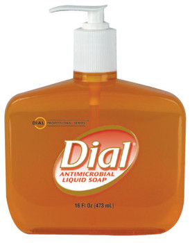 Dial Liquid Dial Gold Antibacterial Soaps, Pump Bottle, 16 oz (12 CA/EA)