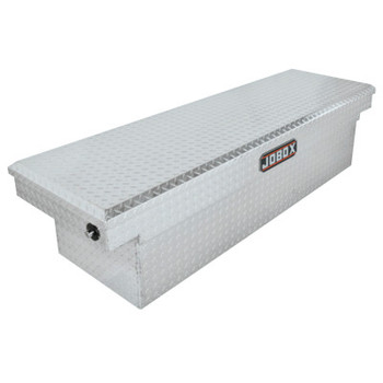 "Apex Tool Group Aluminum Single Lid Crossover Truck Boxes, 63 1/2"" x 20 7/8"" x 11 1/4"", Bright (1 EA/EA)"