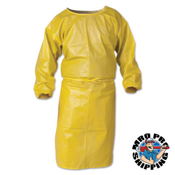 Kimberly-Clark Professional KleenGuard A70 Chemical Spray Protection Smocks, 44 in,Yellow (25 EA/PR)