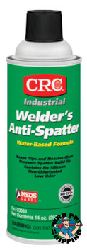 CRC Welder's Anti-Spatter Sprays, 16 oz Aerosol Can, Milky White (12 CAN/EA)
