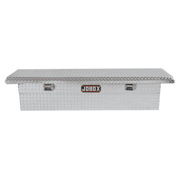 "Apex Tool Group Low-Profile Alum Single Lid Crossover Truck Box, 71 1/8"" x 21"" x 15 1/8"", Bright (1 EA/EA)"
