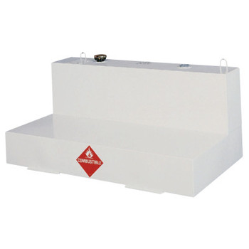 Apex Tool Group Liquid Transfer Tanks, Low-Profile L-Shaped, 86 gal to 92 gal, Steel, White (1 EA/EA)