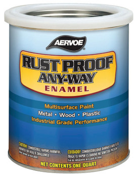 Aervoe Industries Any-Way RustProof Enamels, 1 qt Can, Safety Red, High-Gloss (4 CA/EA)
