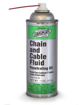 LUBRIPLATE CHAIN & CABLE FLUID, 11 oz. Aerosol, (12 CAN/CS)