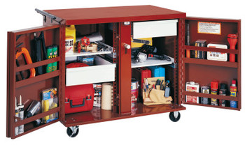 Apex Tool Group Rolling Work Benches, 43 7/8W x 26 7/8D x 38 1/2H, 2 Drawers, 2 Shelves (1 EA/CA)