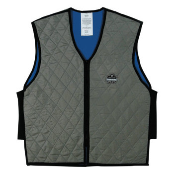 Ergodyne Chill-Its 6665 Evaporative Cooling Vests, Large, Gray (1 EA/CA)