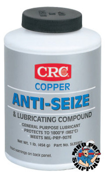 CRC Copper Anti-Seize Lubricants, 16 oz Brush Top Bottle (12 CAN/BX)