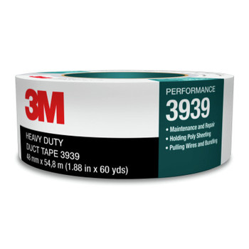 3M 3939 Heavy Duty Duct Tapes, 3.77 in x 60 yd x 9 mil, Silver (1 ROL/EA)