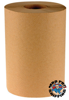 Boardwalk Non-Perforated Hardwound Roll Towels, Kraft, 350 ft. roll (12 EA)