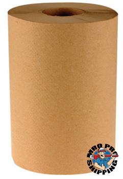 Boardwalk Non-Perforated Hardwound Roll Towels, Kraft (6 EA)