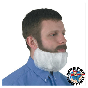 Kimberly-Clark Professional KleenGuard A10 Light Duty Beard Covers, Universal, White (10 CA/EA)
