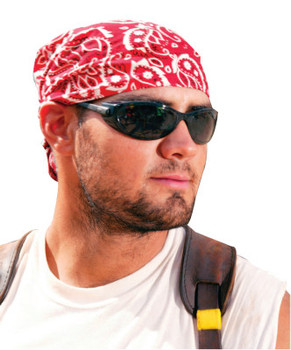 Ergodyne Chill-Its 6710 Evaporative Cooling Triangle Hats, 8 in X 13 in, Red Western (24 EA/EA)