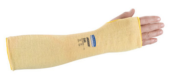 Kimberly-Clark Professional G60 Level 2 Cut Resistant Sleeves, With Thumbhole, 18 in Long, Yellow (12 BG/EA)