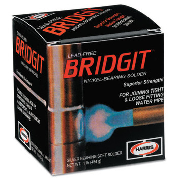 J.W. Harris Bridgit Lead-Free Solder, Spool, 1/8 in (1 LB/EA)