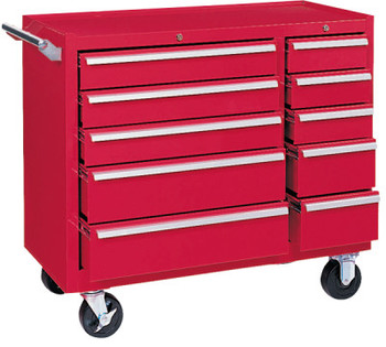 Kennedy 64311 10 DRAWER RED ROLLER CABINET W/ BB SLIDES (1 EA/EA)