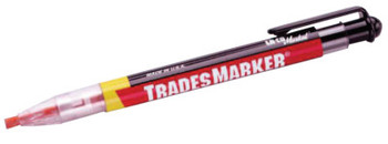 Markal Trades Marker All Purpose Markers, Orange; White; Yellow; Black; Red (1 SET/EA)