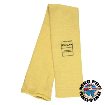 MCR Safety Kevlar Sleeves, 22 in Long, Elastic Closure, Universal, Yellow (10 CT/EA)