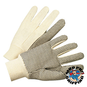 Anchor Products 1000 Series Dotted Canvas Gloves, Cotton Canvas, Men's, White (12 Pair)