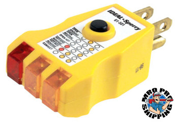 Ideal Industries Receptacle Testers, 125 VAC (1 EA/EA)