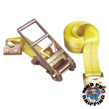Keeper Ratchet Tie-Down Straps, Flat Hooks, 3 in W, 27 ft L, 15,000 lb Capacity (1 EA/EA)