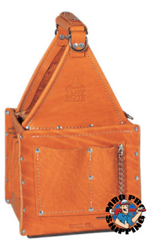 Ideal Industries Tuff-Tote Ultimate Tool Carriers, 7 Compartments, Brown, Premium Leather (1 EA/EA)