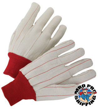 Anchor Products 1000 Series Canvas Gloves, Mens, Off-White, White Knit-Wrist Cuff (12 Pair)