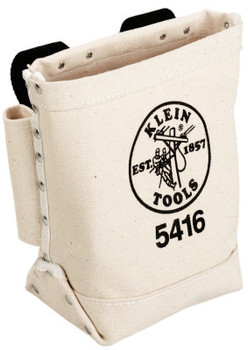 Klein Tools Bull-Pin and Bolt Bags, 3 Compartments, 10 in X 5 in, Canvas (1 EA/EA)