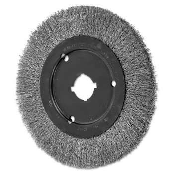 Advance Brush Narrow Face Crimped Wire Brush, 8 D x 3/4 W, .012 Stainless Steel, 6,000 rpm (2 BOX/EA)