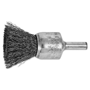 "Advance Brush Standard Duty Crimped End Brushes, Carbon Steel, 22,000 rpm, 3/4"" x 0.01"" (10 EA/EA)"