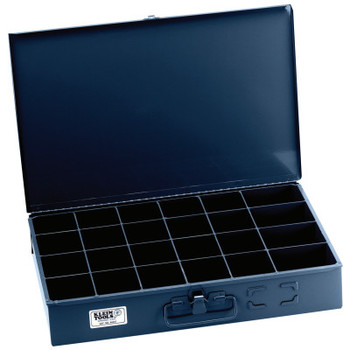 Klein Tools 24-Compartment Boxes, 18 in W x 12 in D x 3 in H, Gray (1 EA/EA)