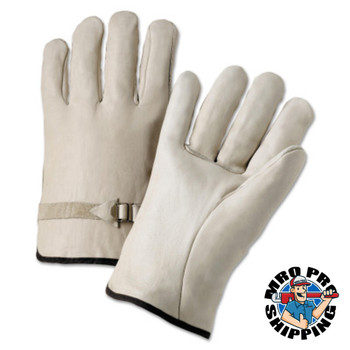 Anchor Products 4000 Series Driver Gloves, Cowhide, Medium, Unlined, Natural (12 Pair)