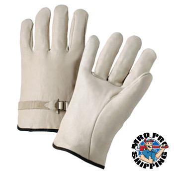 Anchor Products 4000 Series Driver Gloves, Cowhide, Large, Unlined, Natural (12 Pair)