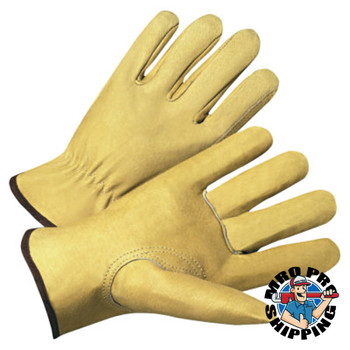 Anchor Products 4000 Series Driver Gloves, Premium Grain Pigskin, Large, Unlined, Beige (12 Pair)