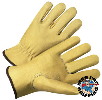 Anchor Products 4000 Series Driver Gloves, Standard Grain Pigskin, Large, Unlined, Tan (12 Pair)