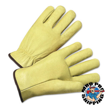 Anchor Products 4000 Series Driver Gloves, Standard Grain Pigskin, Medium, Unlined, Tan (12 Pair)