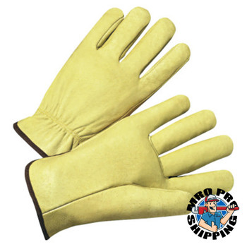 Anchor Products 4000 Series Driver Gloves, Standard Grain Pigskin, X-Large, Unlined, Tan (12 Pair)