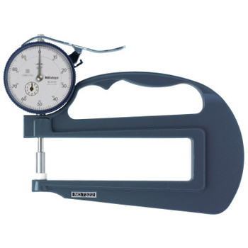 """Mitutoyo Series 7 Ceramic Spindle Dial Thickness Gage, 0-100 Dial, 1"""" Range, Deep Throat (1 EA/EA)"""