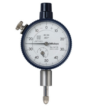 Mitutoyo Series 1 Compact Dial Indicators, 0-50-0 Dial, 0.25 in Range (1 EA/EA)