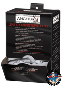 Anchor Products Lens Cleaning Towelettes, 8 in X 5 in (1 BX)