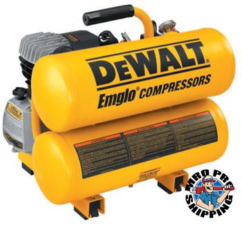 DeWalt 4 H.P. 4 GALLON TWIN STACK AIR COMP. ELECTRIC (1 EA/EA)