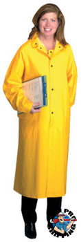 Anchor Products Polyester Raincoat, 0.35 mm PVC/Polyester, Yellow, 48 in, 2X-Large (1 EA)