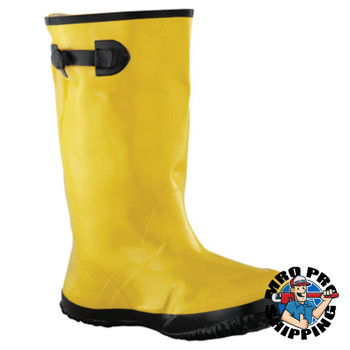 Anchor Products Slush Boots, Size 12, 17 in H, Natural Rubber Latex/Calcium Carbonate, Yellow (1 Pair)