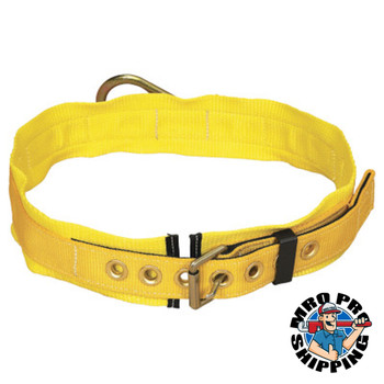 Capital Safety Tongue Buckle Belt, Back D-ring, 3 Pad, X- Large (1 EA/CT)