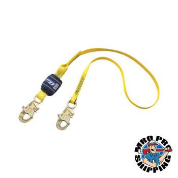 Capital Safety EZ Stop Shock Absorbing Lanyard, 6 ft, Self-Locking, 310 lb Capacity, 1 Leg (1 EA/CT)