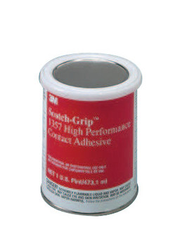 3M Scotch-Grip High Performance Contact Adhesive 1357, 1 pt, Can, Gray-Olive (1 BTL/CS)